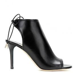 JIMMY CHOO - Fortis open-toe leather ankle boot