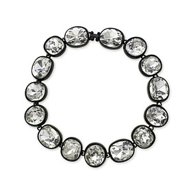 kenneth jay lane - Black Plated Crystal Necklace