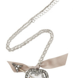 LANVIN - Swarovski crystal heart and arrow necklace