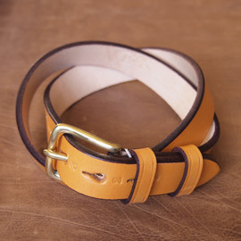 Jabez Cliff - Stirrup Leather Belt #l.brown