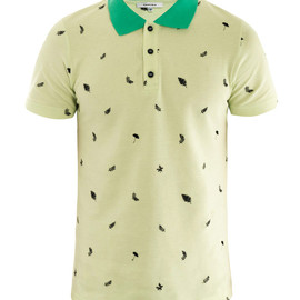 CARVEN - Leaf embroidered polo top