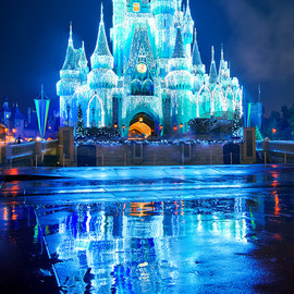 Walt Disney World - Cinderella Castle Dream Lights: Reflections of Christmas