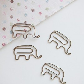 Circus Line Elephant Paper Clips