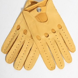Vivienne Westwood - Leather Driving Gloves in Yellow
