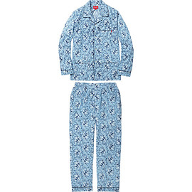 supreme - Paisley Flannel Pajama Set blue