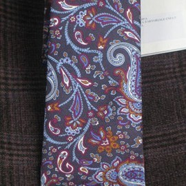 DNA Groove - Paisley narrow ties made by calabrese made in Italy