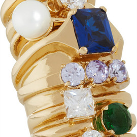 Maison Martin Margiela - Gold-tone, crystal and faux pearl ring