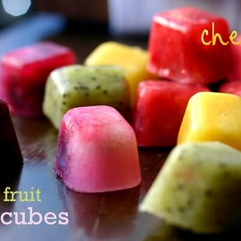 pure fruit ice cubes