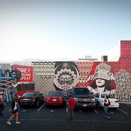 Shepard Fairey - located at 5th in University in Hillcrest
