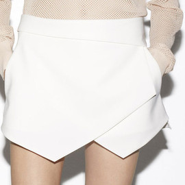 ZARA - Wrap Mini Skirt in White