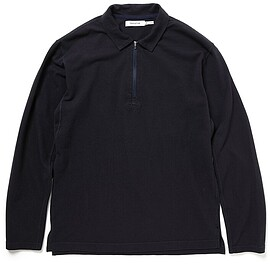 nonnative - CLIMBER HALF ZIP POLO L/S TEE COTTON PIQUE