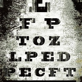 InGallery.com - Eye Chart by Tracy Hiner Fine Art Canvas 30 x 40 in Gallery Wrap Wall Decor