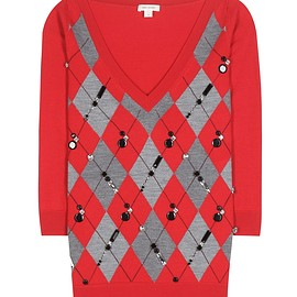 MARC JACOBS - Crystal-embellished wool sweater