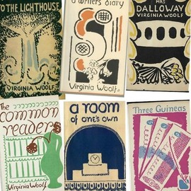 Virginia Woolf's book covers, designed by her sister Vanessa Bell. #Sarah Edmonds #Banquet