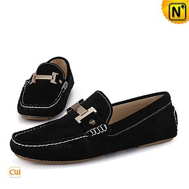 Cwmalls - Cwmalls Mens Leather Driving Shoes Loafers CW713125