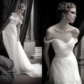 Drape wedding dress