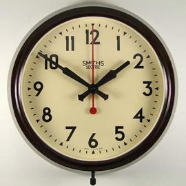 SMITHS SECTRIC - bakelite cased electric wall clock with 9 inch dial