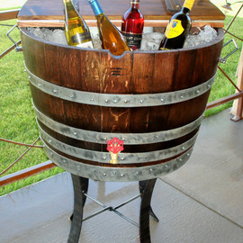 RockCreekFurnitureCo - Wine Barrel Ice Chest