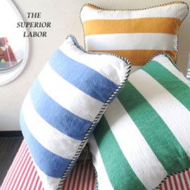 THE SUPERIOR LABOR - 【THE SUPERIOR LABOR】SL072/Border Cushion(3Color)