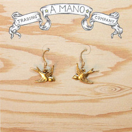 Sourpuss - A MANO SWALLOW EARRINGS GOLD