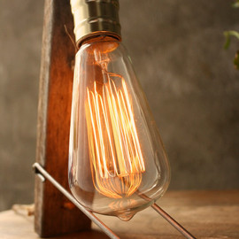 LukeLampCo - Industrial Light Wood Lamp