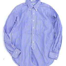 Engineered Garments - 19c BD Shirt,Navy×White Stripe Broadcloth