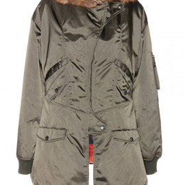 McQ, Alexander McQueen - PARKA WITH FAUX FUR-TRIMMED HOOD