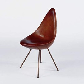 Fritz Hansen - 'Drop' Chair by Arne Jacobsen (Leather)