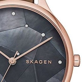 Skagen - SKAGEN DENMARK アナログ腕時計 ConstellationMosaicCrystal StainlessLeather Watch SKW2390(2)
