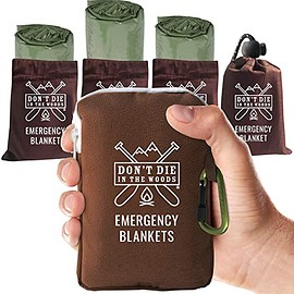 Don't Die In The Woods Store - Extra Large Emergency Blankets