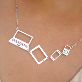 Smiling SilverSmith - For Computer Lovers (Apple lover) Necklace - Handmade Silver Necklace
