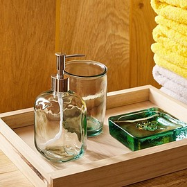 ZARA HOME - recycled glass bathroom set