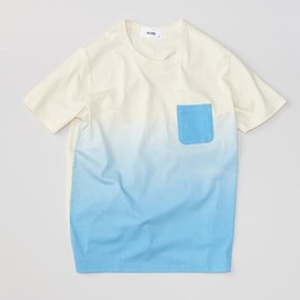 ALOYE - Gradation #3 - Gradation Print S/S T-shirt (Off White-Blue)