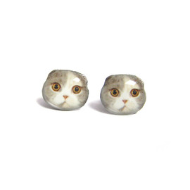 Faz Jewelry - ネコピアス Tricolor Fold Ear Kitten