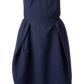 CARVEN - textured strapless dress