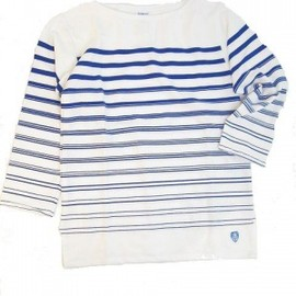 Orcival  - Marine Nationale white/bleu Gradation Stripe 【Men's/Lady's】
