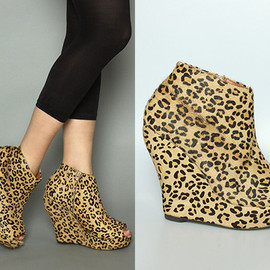 Jeffrey Campbell - Cheetah Tick Wedge
