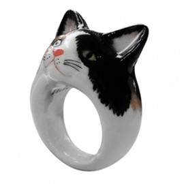 Nach Jewellery - Black&White Cat Ring