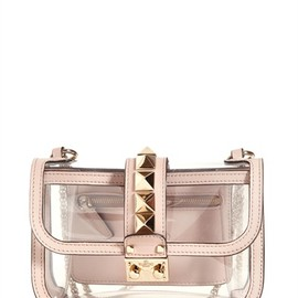 VALENTINO - SMALL LOCK PVC SHOULDER BAG