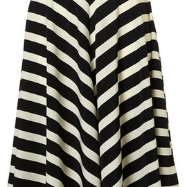 TOPSHOP/TOPMAN - Stripe Full Circle Skirt