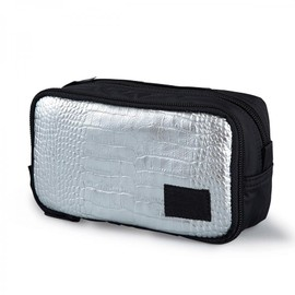 "HEAD PORTER - ""GLITTER"" COSMETIC CASE SILVER"