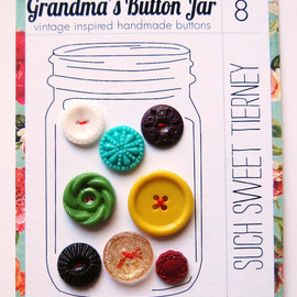 Grandma's Vintage Button Jar