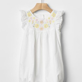 GAP - Floral border flutter one-piece