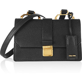 miu miu - Madras small textured-leather shoulder bag