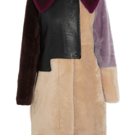 3.1 Phillip Lim - Patchwork shearling and leather coat