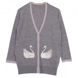 Honey mi Honey - Swan knit cardigan