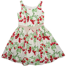 milk - CHERRY garden dress