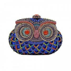 hallomall - Blue Owl Clutch