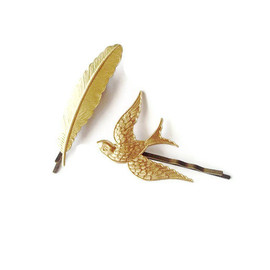 Flying Gold Sparrows Pins