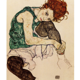 Egon Schiele - The Artist's Wife Print